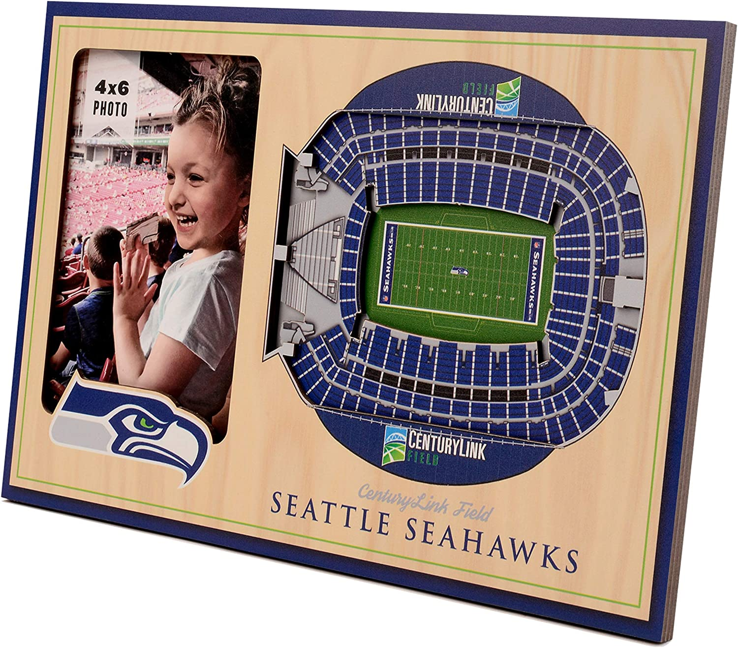 NFL Seattle Be super welcome mart Seahawks 3D StadiumViews Picture Frame