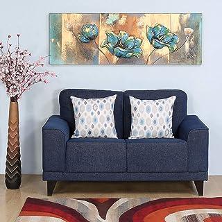 @home By Nilkamal Vibrant 2 Seater Sofa (Blue) (Model: FLSFVIBRANTSF2SBLU)
