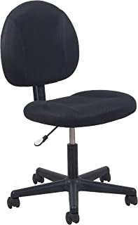 OFM Essentials Collection Upholstered Armless Swivel Task Chair, in Black (ESS-3060)