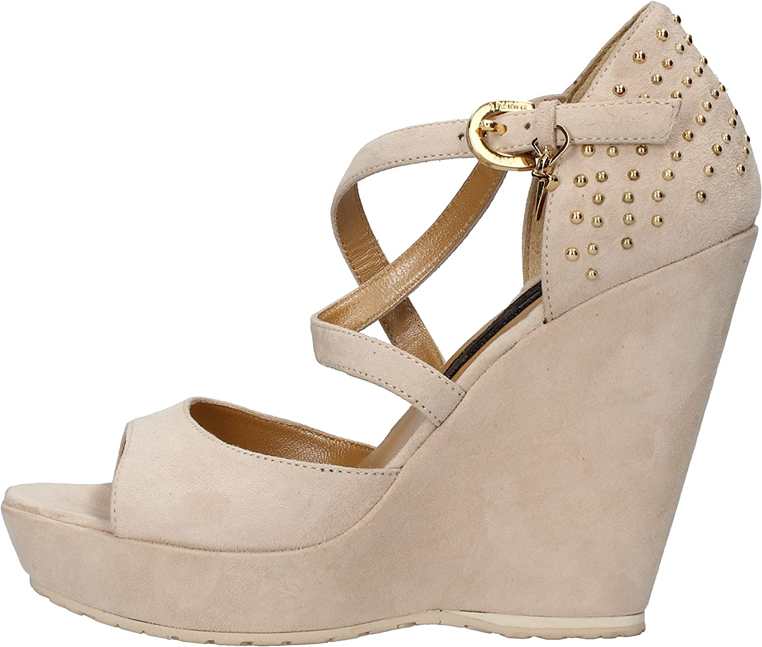 CESARE PACIOTTI 4US Wedges-Sandals Womens Suede Beige