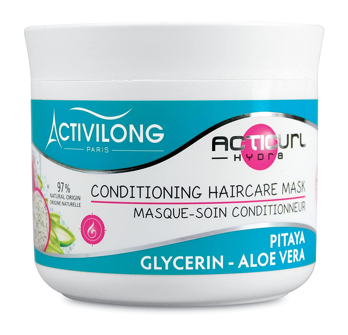 改革明らかに不要Activilong Acticurl HydraコンディショニングヘアケアマスクDragonfruit Pitayaグリセリンアロエベラ200 ml