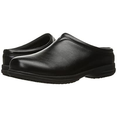 Nunn Bush Solis Slip Resistant Plain Toe Clog (Black) Men