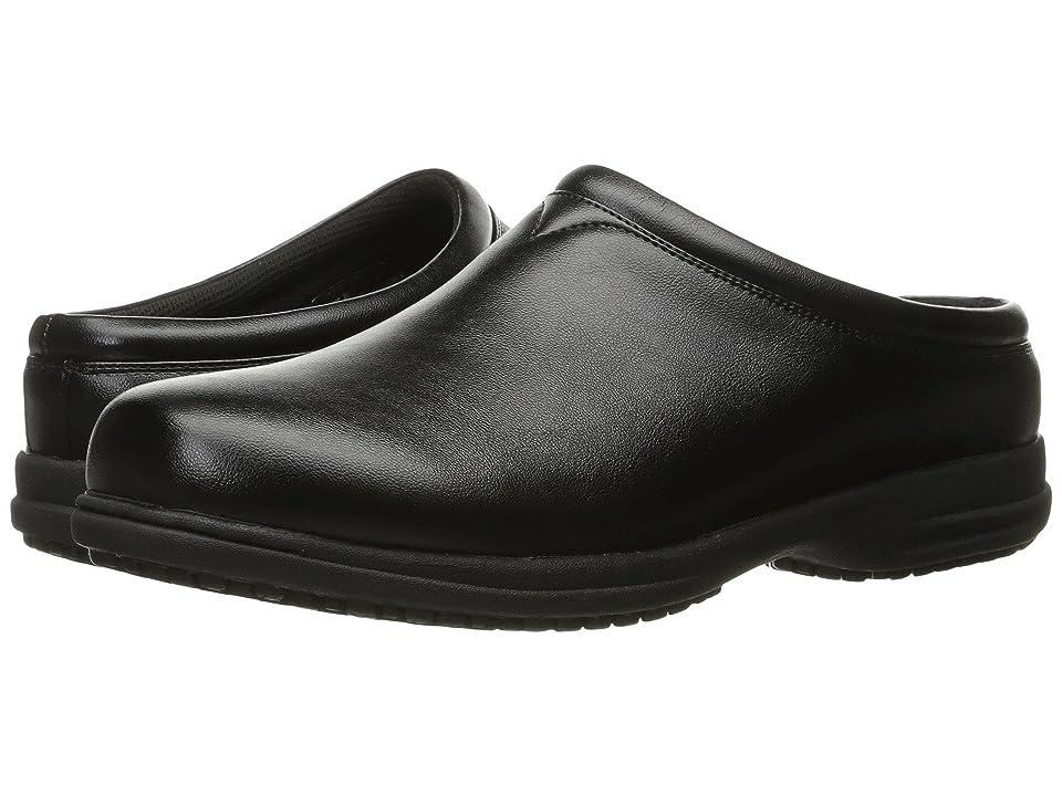 Nunn Bush Solis Slip Resistant Plain Toe Clog (Black) Men