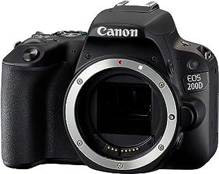 Canon EOS 200D - Cámara Digital Réflex de 24.2 MP (Pantalla táctil de 3.0 WiFi Bluetooth Dual Pixel CMOS AF Full HD) - Cuerpo
