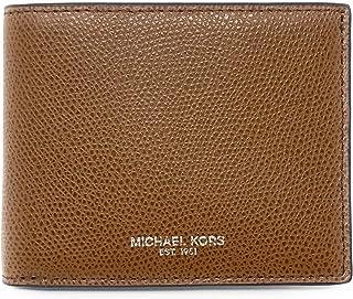 1e2faf1412da9 Michael Kors Warren Saffiano Leather Mens Slim Billfold Wallet (Luggage)