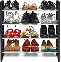 Ebee Easy To Assemble & Light Weight Foldable 4 Shelves Shoe Rack