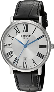 unisex-adult Carson Stainless Steel Dress Watch Black T1224101603300