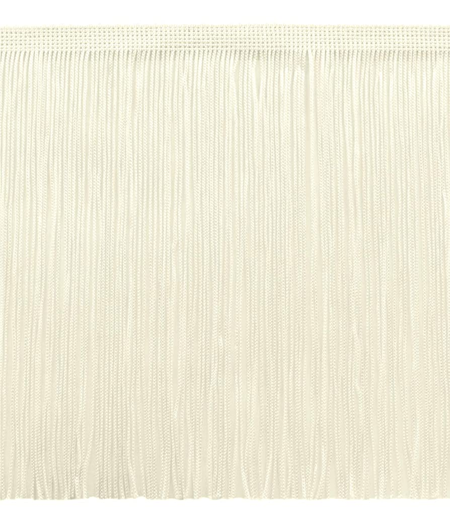 DecoPro 11 Yard Value Pack of 8 Inch Chainette Fringe Trim, Style# CF08 Color: Ivory (Off White) - OW (32.5 Feet / 10M)