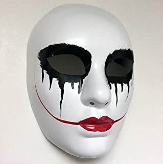 MasqStudio Scary Smiley Bloody Lips The Purge mask Anarchy Movie Women mask Horror Masked Men Halloween Costume Party