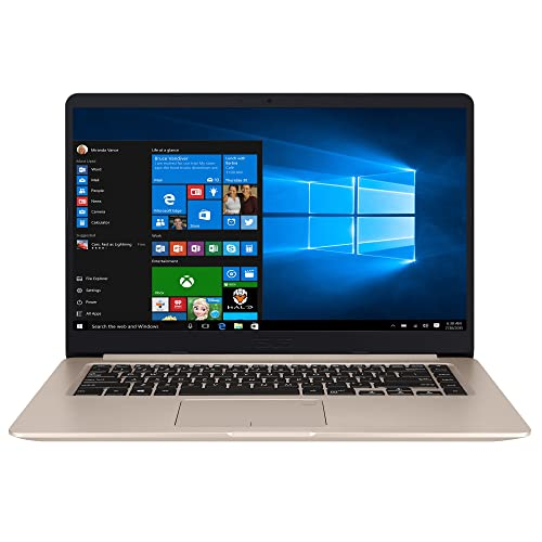 "ASUS Vivo Book S510UA-BR249T - Ordenador Portátil de 15.6"" HD (Intel Core i3-7100U, 8 GB RAM, 256 GB SSD, Intel HD Graphics 620, Windows 10 Home) Dorado - Teclado QWERTY Español"