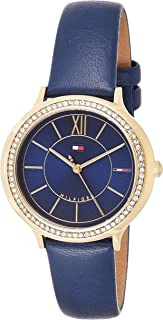 Tommy Hilfiger Womens Quartz Watch, Analog Display and Leather Strap - 1781852