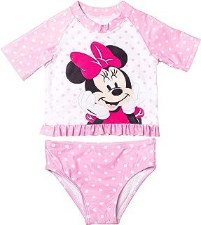 Disney Minnie Mouse Baby Girls Swim Rash Guard and Bottoms Set