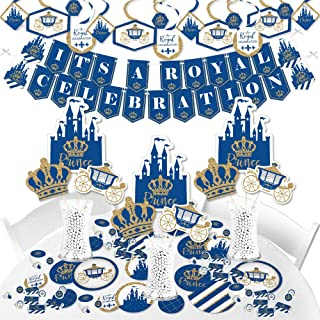 Big Dot of Happiness Royal Prince Charming - Baby Shower or Birthday Party Supplies - Banner Decoration Kit - Fundle Bundle
