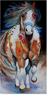 Trademark Fine Art Brave The Indian War Horse by Marcia Baldwin Fine Art, 16