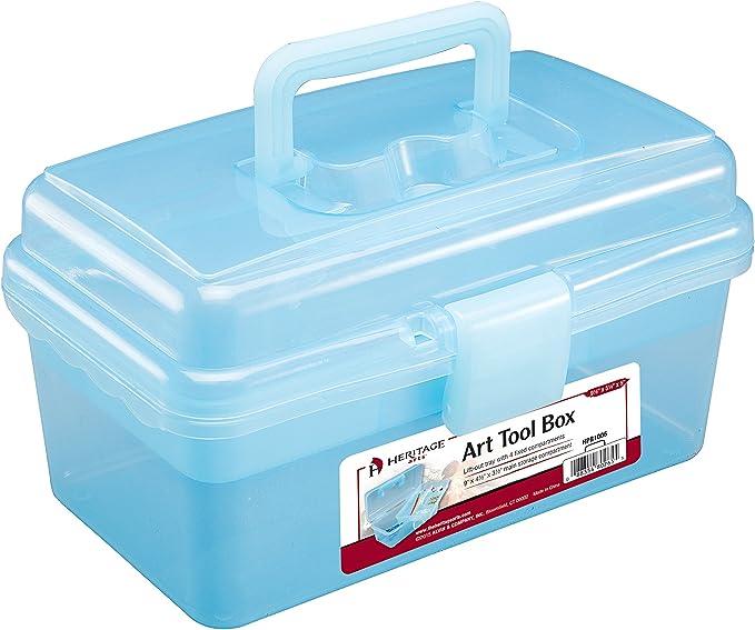 Transparent Multifunctional 3-Layer Art Storage Box Art Pencil Painting Tool Container Samfox Art Tool Box