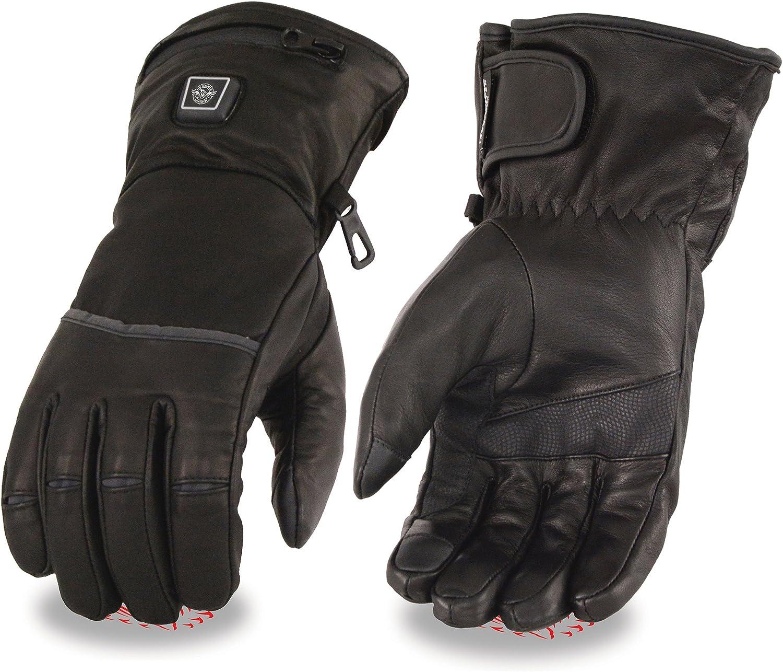 Cheap Milwaukee Leather-Men's Luxury goods Waterproof Heated Glove I-Touc Gantlet w