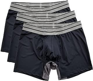 Mr. Davis Men's Poly Sport Mid Cut Boxer Brief Underwear, Small, Navy, 3 Pack