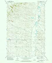Montana Maps - 1973 Witcher Reservoir, MT USGS Historical Topographic Map - Cartography Wall Art - 44in x 55in
