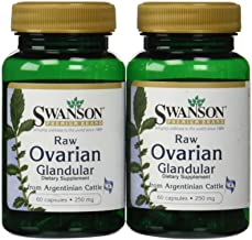 Swanson Premium Raw Ovarian Glandular 250mg (2 Bottles each of 60 Capsules)