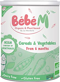 Bebe M Organic & Plant Based Baby Cereal with Vegetables from 6 months, 400 gm