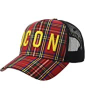 DSQUARED2 - Icon Plaid Baseball Cap