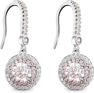 T400 Jewelers Sterling Silver Earrings Dangle Earrings for Women Set With Cubic Zirconia Birthday Her