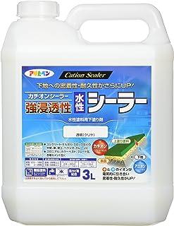 アサヒペン 強浸透性水性シーラー 透明(クリヤ) 3L