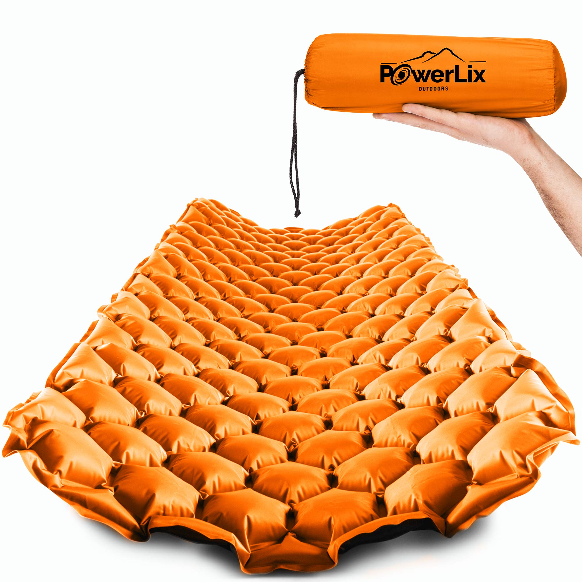 PowerLix Sleeping Pad Orange Black