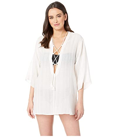 Robin Piccone Michelle Tunic Cover-Up (White) Women