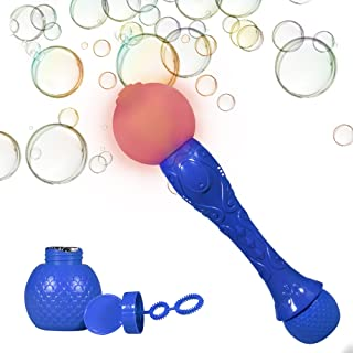 Windy City Novelties LED Light up Bubble Blaster Wand Toy for Boys and Girls with Bubble Solution