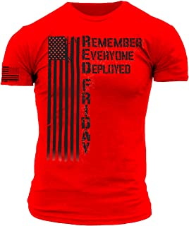 Downrange Apparel Remember Everyone Deployed RED Friday Premium Athletic Fit T Shirt