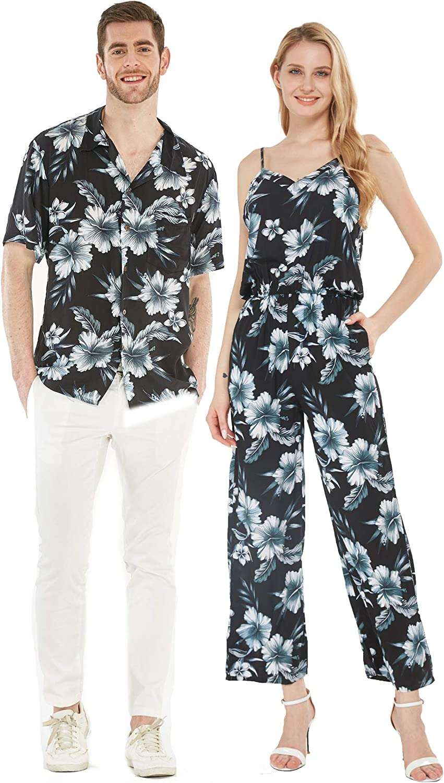 Import Couple Matching Hawaiian Luau Shirt Choice Jumpsuit in