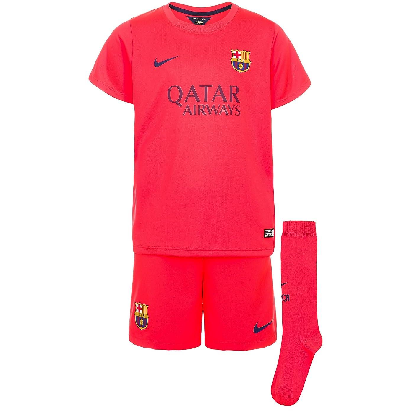 Nike Barcelona Away Little Boys Mini Kit 2014-2015