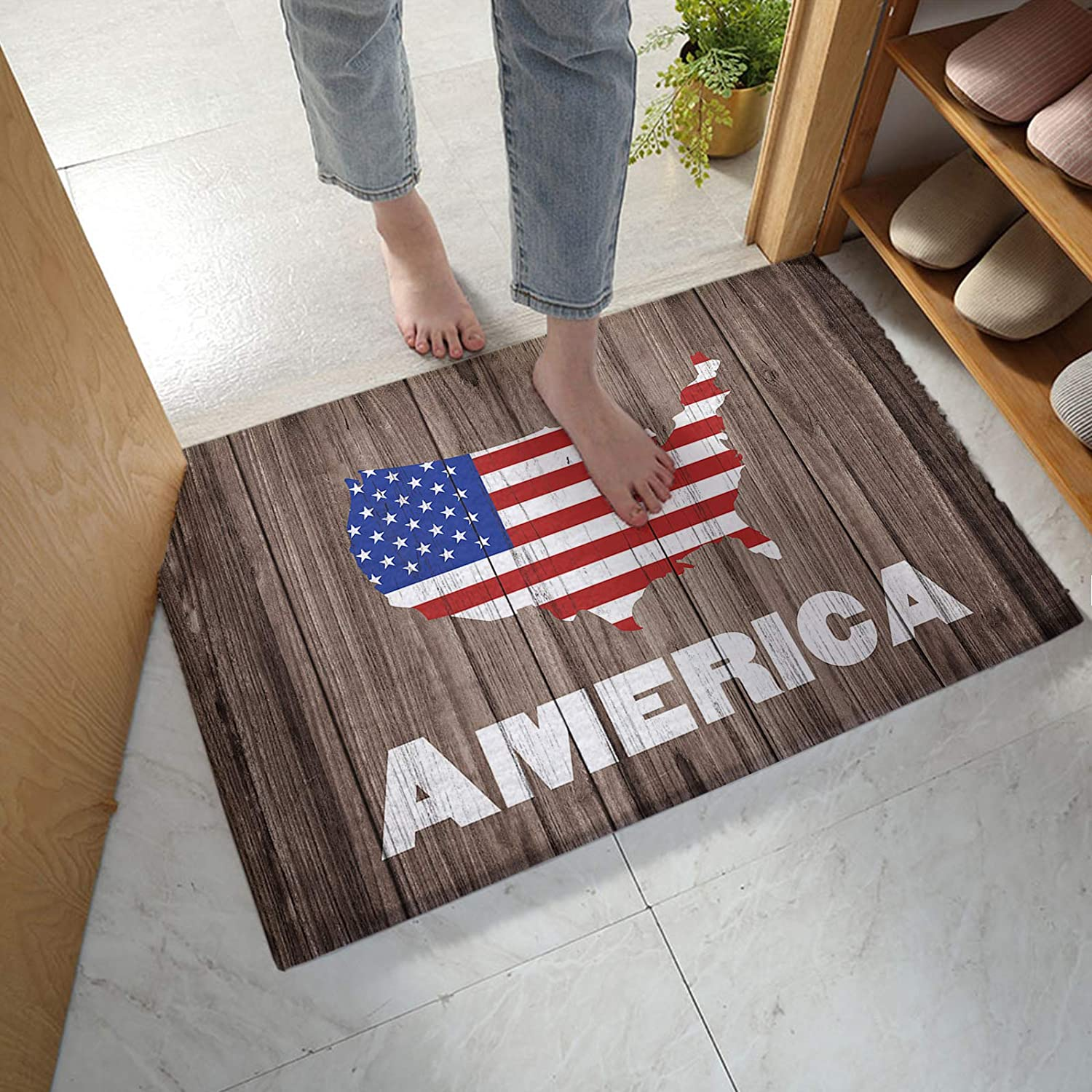 Bathroom Spring new work Rug Bath Mat Independence Day American Maps Vintage Super-cheap On