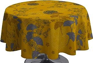 Le linge de Jules Nappe Anti-Taches Ginko Safran - Ovale 150 x 240 cm