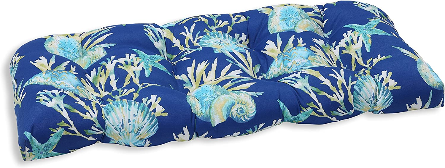Pillow Perfect Outdoor/Indoor Daytrip Pacific Tufted Loveseat Cushion, 44