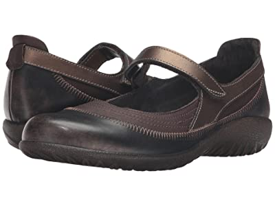 Naot Kirei (Brown Shimmer Nubuck/Volcanic Brown Leather/Grecian Gold Leather) Women