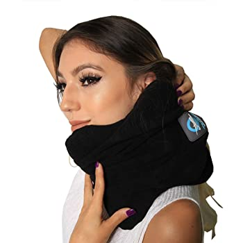 TedBoss Travel Pillow Scarf - Black Portable Memory Foam Traveling Accessories with Soft and Comfort Neck Support | Light Weight | Innovative Design | Easy to Carry When Traveling by Airplane