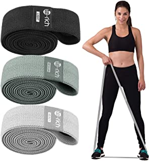 Te-Rich Long Resistance Bands, Fabric Pull Up Assistance Bands 3 Pack, Thick Cloth Stretch Bands for Exercise, Fitness Loo...