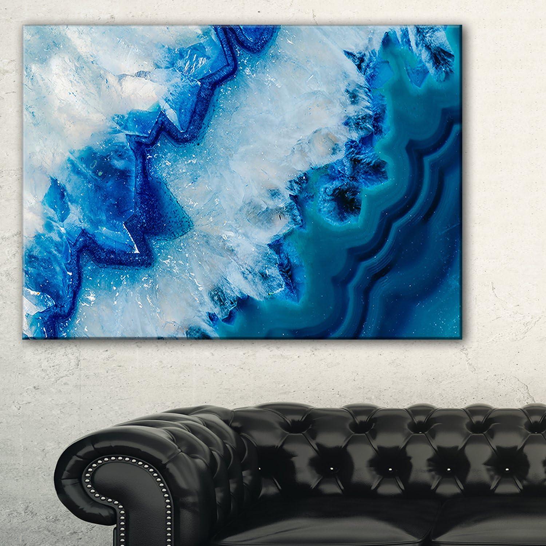 Geode Slice Macro Abstract Canvas Art Print Home Kitchen