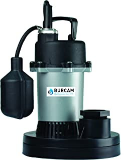 BURCAM 300500Z 1/3 HP Zinc Submersible Sump Pump With Tethered Float Switch
