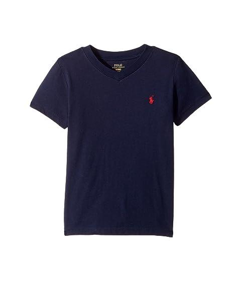 Polo Ralph Lauren Kids Cotton Jersey V-Neck T-Shirt (Little Kids Big ... d1c7638a28e9