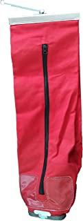 Red Vacuum Cleaner Outer Cloth Bag Fits Eureka, Sanitaire, Kent, Advance, NSS, Oreck Bissell, EuroClean, Nilfisk, RealiaVac, Triple S, Clarke*/Alto Vacuum Brands (Two-Way (Zipper/Shake out))