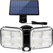 60//120LED Solarleuchte Solarlampe mit Bewegungsmelder Außen Fluter Strahler IP65