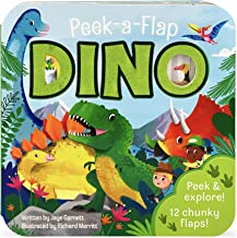 Peek-a-Flap Dino - Children's Lift-a-Flap Board Book, Gift for Little Dinosaur Lovers, Ages 2-7