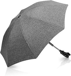 Winload Universal Sonnenschirm kinderwagen, UV Schutz 50 Sonnenschutz für buggy, kinderwagen regenschirm Wasserabweisend,73cm Durchmesser Babywagen Schirm mit Gerader Schirmgriff