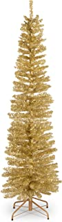 National Tree 6 Foot Champagne Gold Tinsel Tree with Metal Stand (TT33-702-60)
