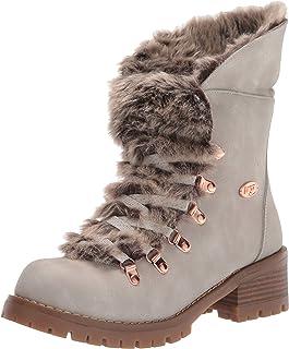 Lugz Women's Adore Fur Classic Chukka Fashion Boot, Nimbus/Gum, 6, M