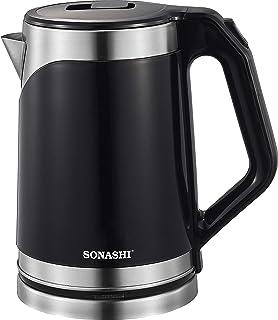 Sonashi 1.8L Stainless Steel Cordless Kettle Black SKT-1808