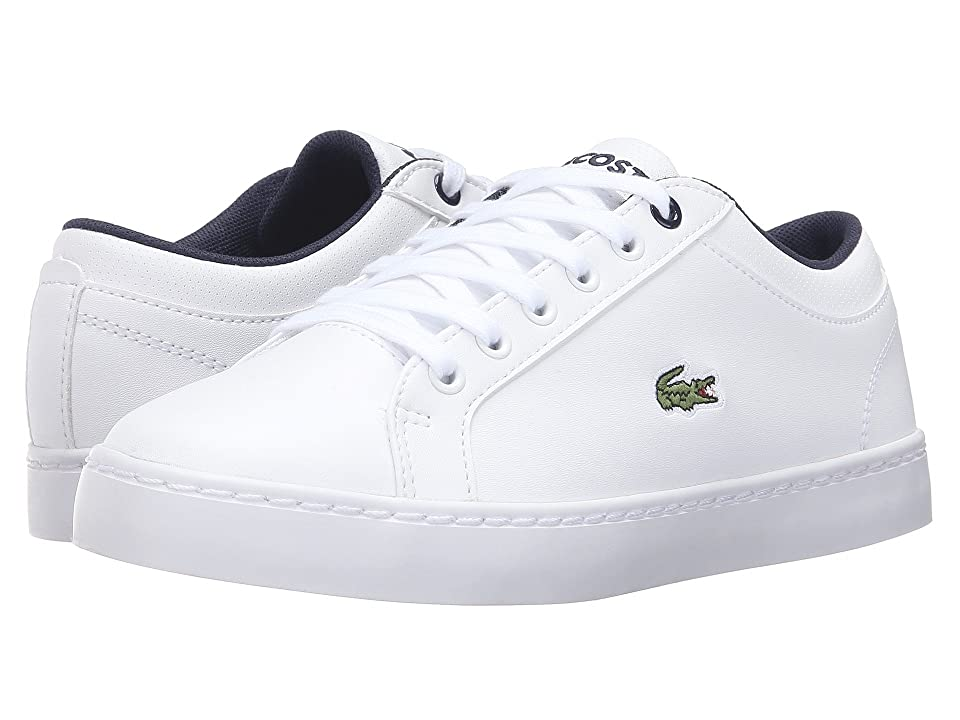 Lacoste Kids Straightset (Little Kid/Big Kid) (White) Kid